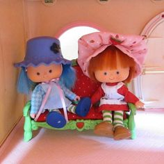 Sofa or Couch for Strawberry Shortcake Berry Happy Home Dollhouse | Brown Eyed Rose