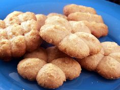 These are wonderful cookies to use in a cookie press.  The dough is the right consistency and the cookies are delicious.  My sister, Jayne, made these for her children all the time when they were small.