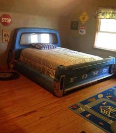 Bed, children, ford