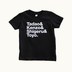 Tadao & Kenzo & Shigeru & Toyo toddler t-shirt by Tiny Modernism