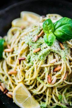 Leicht und lecker: Frische Basilikum Lemon Pasta
