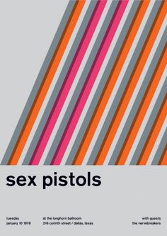 Punk Rock Posters, Remixed Swiss Modernist-Style - this is design sex