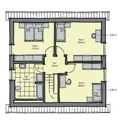 Fertighaus Buchenallee Variante 1 - Dachgeschoss