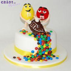 M&M'S - Grãos de Açúcar - Bolos decorados - Cake Design