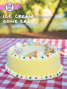 Make any summer celebration even sweeter with an ice cream cake! Our Ice Cream Cone Cake is a delicious dessert that will make all your backyard BBQ even better. Pick one up from your local Baskin-Robbins today.