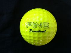 Ping golf ball, this is a solid yellow Ping promotional golf ball rated number 3 on the ping scale.$49