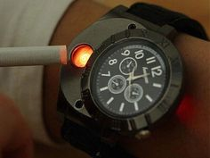 Cool Stuff to Buy on The Internet. Time Burner Watch - $34.95.  Never again lose track of time or be without a lighter ...