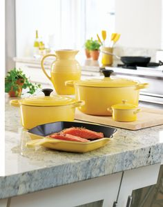 LE CREUSET Soleil Collection(Butter Yellow Kitchen)