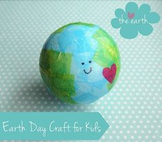 This is one of the cutest Earth Day Crafts ever! It is adorable and so easy! #earthdaykids #craft #tissuepaper