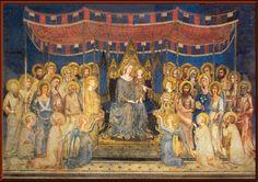 SIMONE MARTINI. La Majestad. 1315. Gótico internacional Escuela de Siena.