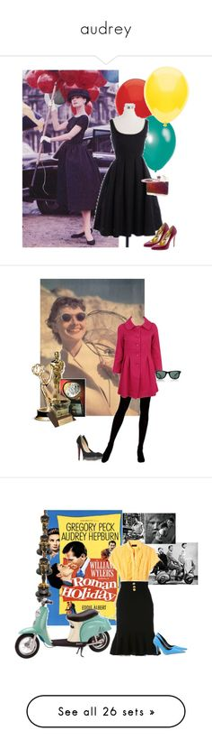 """audrey"" by elizabethtaylorfan ❤ liked on Polyvore featuring art, Wyler, Leo Pizzo, Van Cleef & Arpels, Roksanda Ilincic, funny face, audrey hepburn, fred astaire, interior and interiors"