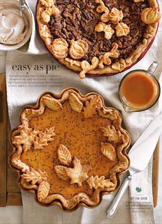 Can't wait for Pecan and Pumpkin Pie Season to begin!  (I just love Thanksgiving and Christmas food.) ~~  Houston Foodlovers Book Club