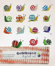 Clip art / scrapbook downloadable vector EPS and high by mellenes, $5.50