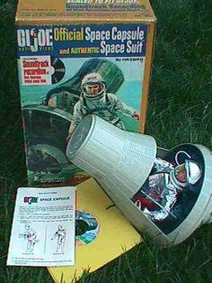 GI Joe Space Capsule Space Walk set in orig box Vintage Toys 1960s, 1960s Toys, Retro Toys, 1970s, Gi Joe, My Childhood Memories, Childhood Toys, Sweet Memories, Old School Toys