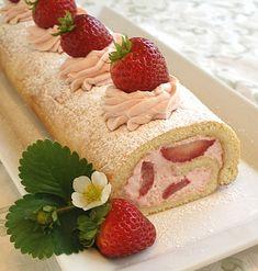 Strawberry Roll Cake Recipe   Strawberry+ice+cream+cake+roll+recipe