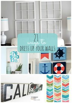 Great Ideas -- 21 Ways to Dress Up Your Walls at Tatertots and Jello