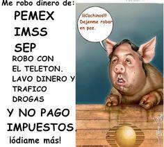 Para muchos el cerdo @eazcarraga es igual o más peligroso que el Chapo Guzmán, deberían agarrarlo por tantos crímenes pic.twitter.com/SIdgFnKZ2q