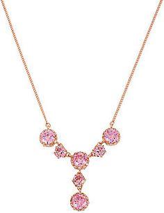 Betsey Johnson Ruffled Crystal Y-Shaped Necklace