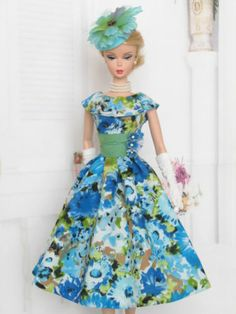 Floral Print Dress For Silkstone Barbie By Kunchris