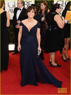 Sally Field in Alberta Ferretti at Golden Globes -- can you believe she's 66?!