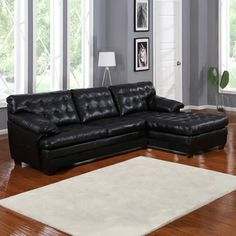 Black Sectional Couches best colour cushions for black leather sofa - google search | home