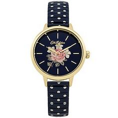It's always time for polka dots,  so with this polka dot design expanding strap and navy floral dial, you are set. It comes in a beautiful printed box.