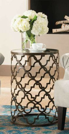 Add designer style at an affordable value: our chic Moroccan-inspired Quatrefoil accent table makes a statement without overwhelming your decor.