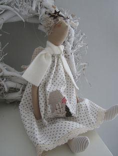 Deko-Objekte - Weihnachts- Engel im Landhausstil - ein Designerstück von Feinerlei bei DaWanda