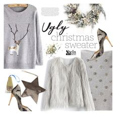 """""""(Not) Ugly Sweater"""" by ansev ❤ liked on Polyvore featuring Melrose International, Topshop, Chicwish, Ted Baker, Envi: and shein"""