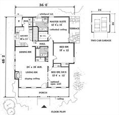 Country Charm 5674 - 3 Bedrooms and 2 Baths | The House Designers 1410 sq ft.