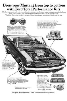 1965 Ford Mustang Performance Kits