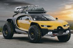 Rain Prisk is an automotive digital artist that knows his way around awesome concepts, and his Bugatti Chiron Off-Road Edition is no exception. The concept has a menacing quality to it—you get the same feeling from looking at this car as you do from running into a badger or a wolverine in the backcountry. This … Pick Up, Jacked Up Trucks, 4x4 Trucks, Range Rover, Weird Cars, Cool Cars, Rc Cars, Sport Cars, Offroad