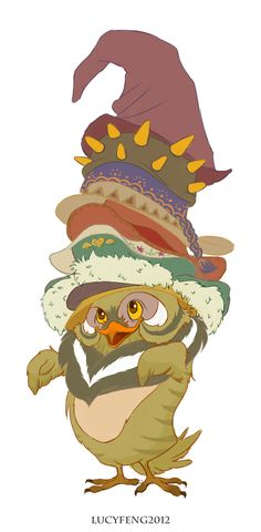Mad Hatter Owl by lucyelva