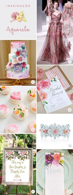 moodboard-15-anos-aquerela Sweet 16 Birthday, 20th Birthday, Unicorn Birthday Parties, Sweet Fifteen, Cheap Party Decorations, Birthday Party Decorations, Romantic Wedding Colors, Glamour Party, Tropical Party