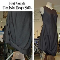 First Sample - Twist or Cowl Shift Dress   well-suited   Bloglovin'