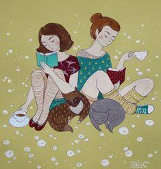 Просмотреть иллюстрацию время пить чай из сообщества русскоязычных художников автора Анна Спешилова в стилях: Другое, нарисованная техниками: Смешанная техника.