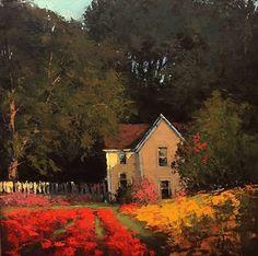 Hidden Garden by Romona Youngquist Oil ~ 24 x 24