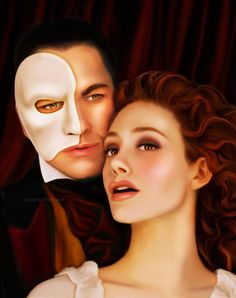 The Phantom of the Opera. Whoa!! It's a painting....love the broadway musical!