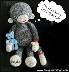 Extra Large Monkey Crochet Pattern ~ Amigurumi To Go free pattern