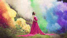 This mother suffered six miscarriages before successfully carrying this beautiful child. A rainbow baby is the understanding that the beauty of a rainbow does not negate the ravage of the storm. When a rainbow appears, it does not mean the storm never happened or the family is still not dealing with its aftermath. Each of the children lost were as much a tragedy as this child is a miracle. Embrace life!