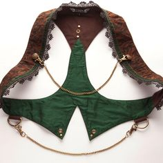 This waistcoat crosses tribal, steampunk, and fairy designs in this stunning feature piece creating its own unique genre Costume Steampunk, Mode Steampunk, Victorian Steampunk, Steampunk Clothing, Steampunk Fashion, Steampunk Vest, Mode Alternative, Ideas Joyería, Steam Punk