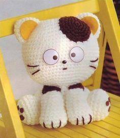 head : ------------- 1st row: type 8 vp, knit 1 sc in second from hook loop, 6 sc, 3 sc in last loop. Turn the knitting. 6 sc, 2 sc i...