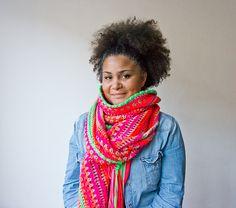 nom vol van kleur handgemaakte sjaals en workshops
