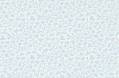 Batik Leaf Mineral Blue (213736) - Sanderson Wallpapers - A small scale stylised leaf motif printed on a woven fabric effect background. Shown in the fresh mineral blue colourway.  Paste the wall. Please request sample for true colour match.