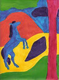 dibujos del fauvismo faciles - Buscar con Google Franz Marc, Painting For Kids, Various Artists, Vector Art, Photo S, Artec, Lamborghini Aventador, Contrast, Landscapes