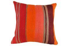 Moroccan Wool Pillow w/ Stripes