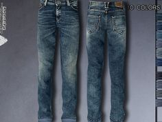 Pinkzombiecupcakes' Distressed Denim Jeans for Male