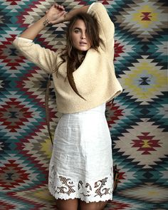 Editorial: From StyleMeRomy.com, Bambi Northwood-Blyth wears Trinity Scallop Skirt from Zimmermann Resort 15 Swim