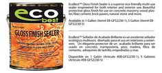 Gloss Finish Sealer - Eco Best | Eco Friendly Stains, Sealers, & Cleaners