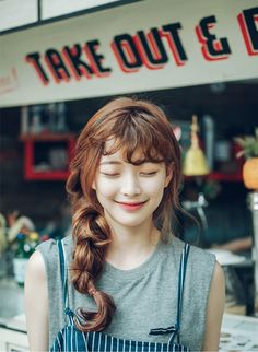 Korean Hairstyles and Fashion Official Korean fashion – hair bangs long Summer Bangs, Korean Girl, Asian Girl, Hair Korean Style, Asian Ladies, Style Hair, Pretty People, Beautiful People, Bora Lim